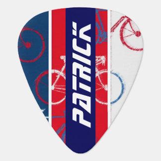 bike inspired with custom-name guitar pick