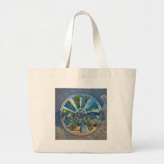 Bike Mandala Large Tote Bag