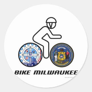 Bike Milwaukee Round Sticker