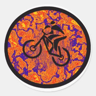 Bike New Cranks Round Sticker