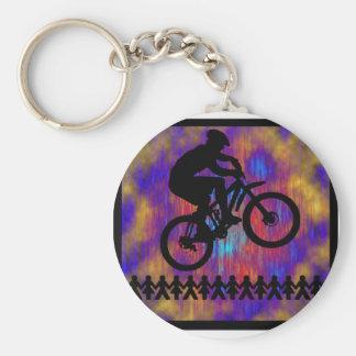 Bike New Diggs Basic Round Button Keychain