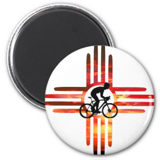 Bike New Mexico 2 Inch Round Magnet