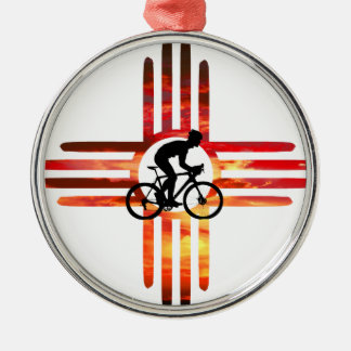 Bike New Mexico Metal Ornament