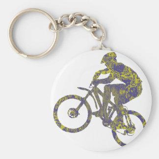 Bike New Territory Basic Round Button Keychain