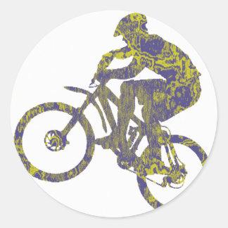 Bike New Territory Round Sticker