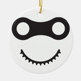 Bike Ninja Round Ceramic Ornament
