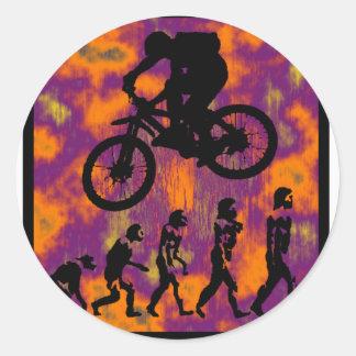 bike NO EXCUSES Round Sticker
