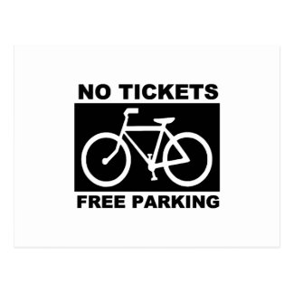 Bike No Tickets Postcard