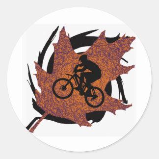 Bike Oak Flavored Round Sticker