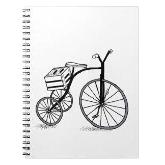 Bike on 3 wheels notebooks