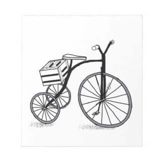 Bike on 3 wheels notepad