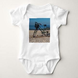 Bike on Barefoot Beach II Baby Bodysuit