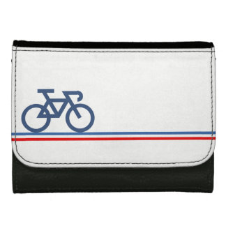 Bike on French-inspired Flag Lines Wallets