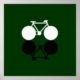 bike on green poster