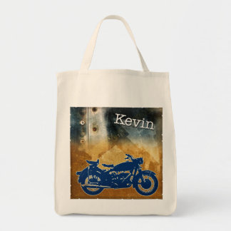 Bike on Metal Tote Bag