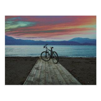 Bike On Pier   Greece Postcard