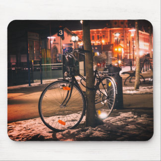 Bike on Street Mouse Mat Mouse Pad