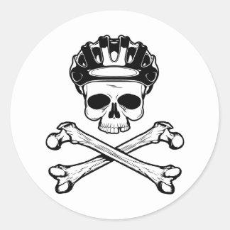 Bike or Die - Bike and Crossbones Round Sticker