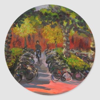 Bike Park Classic Round Sticker