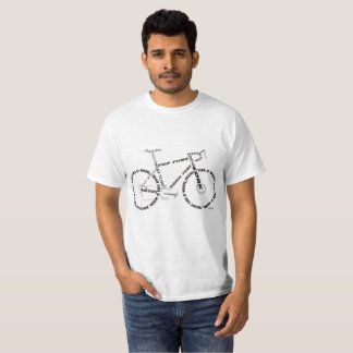 Bike parts silhouette design shirt