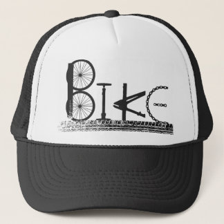Bike Parts Word Graffiti Urban Design for Cyclists Trucker Hat