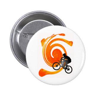 Bike Past Present Pinback Buttons