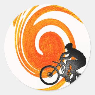 Bike Past Present Round Sticker
