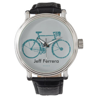 Bike personalized with name watch