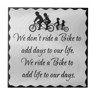 BIKE QUOTE SILHOUETTE TILE