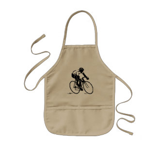 Bike race kids apron