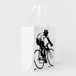 Bike race reusable grocery bag