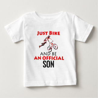 bike rider son baby T-Shirt