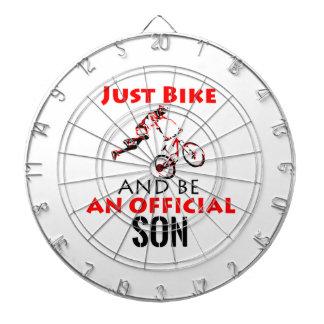 bike rider son dartboard