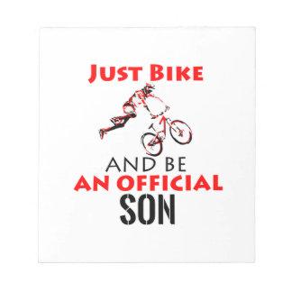 bike rider son notepad