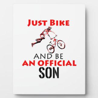 bike rider son plaque