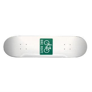 Bike Route Sign Custom Skate Board