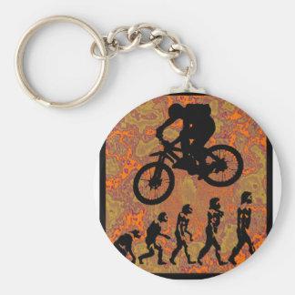 Bike Start Up Basic Round Button Keychain