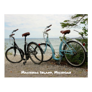 Bike the Island - Mackinac Island, Michigan Postcard