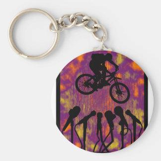 Bike The Voyager Basic Round Button Keychain