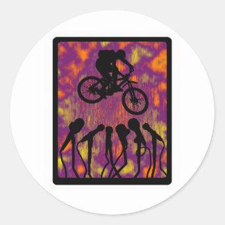 Bike The Voyager Round Sticker