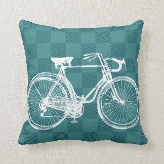 Bike to the Future Throw Pillow