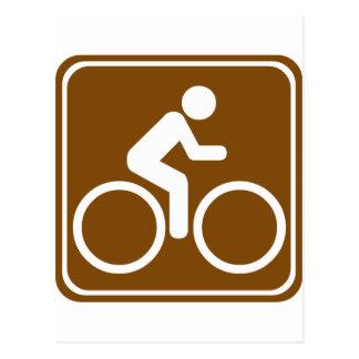 Bike Trail Highway Sign Postcard