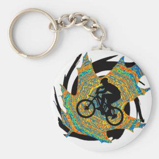Bike Upper Ontario Basic Round Button Keychain