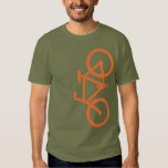 Bike, Vertical Silhouette, Orange Design Shirts