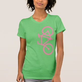 Bike, Vertical Silhouette, Pink Design T-Shirt