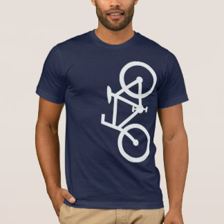 Bike, Vertical Silhouette, White Design T-Shirt