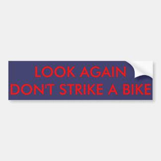 Bike warning sticker for car drivers bumper sticker