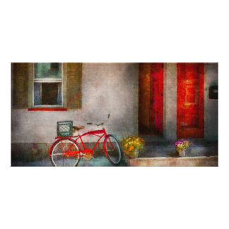 Bike - Welcome, doors open Custom Photo Card