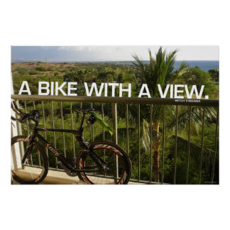 Bike with a view poster