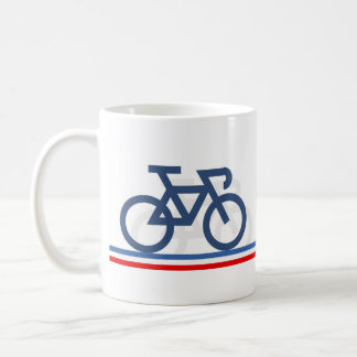 Bike with French Flag inspired Lines Mug